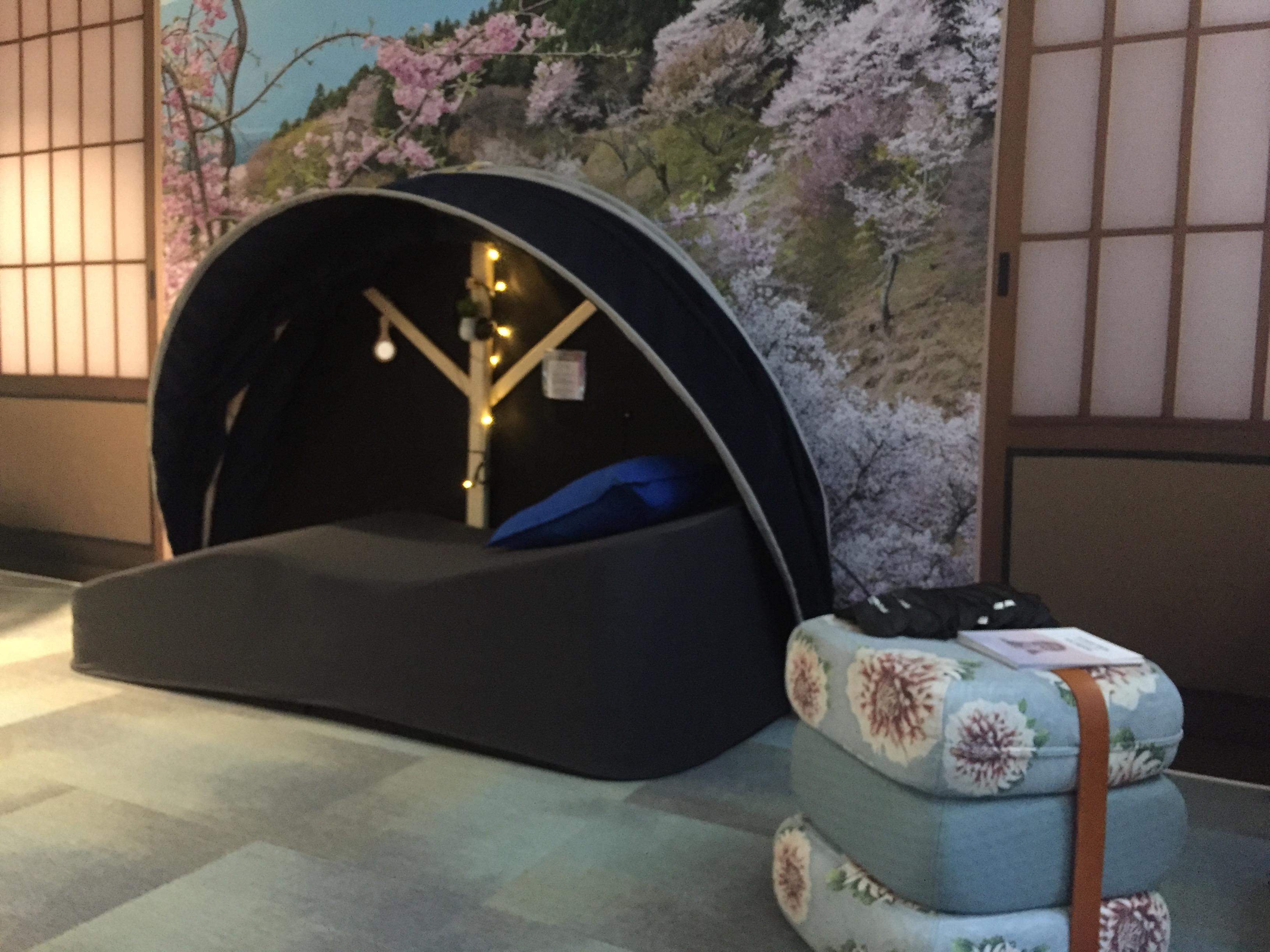 Installation d'un espace de sieste chez Iliad - sieste au travail - sieste en entreprise