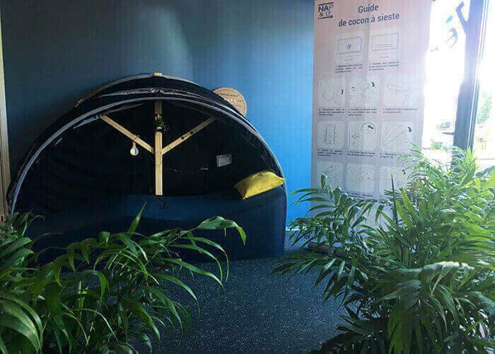 Salle de sieste dans une entreprise
