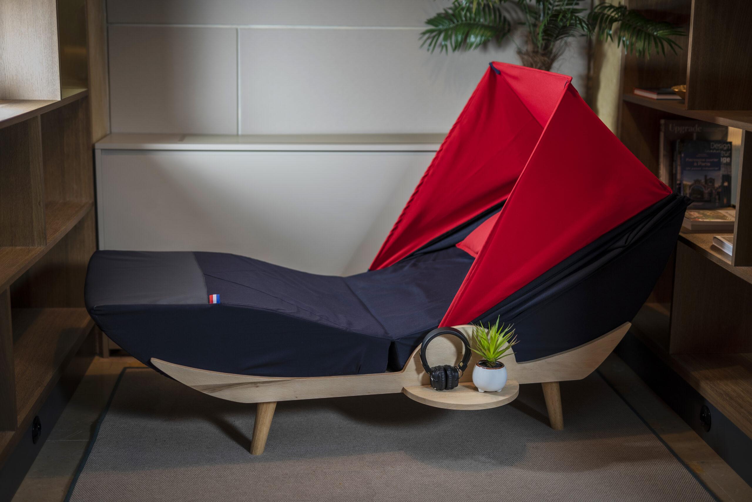 Nouveau Cocon a sieste Nap and Up vu de profil