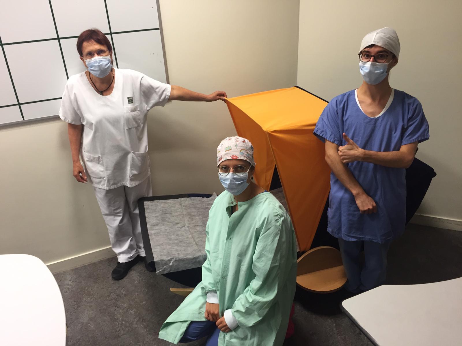 La salle de sieste à l'hôpital de Rennes avec un cocon Nap&Up
