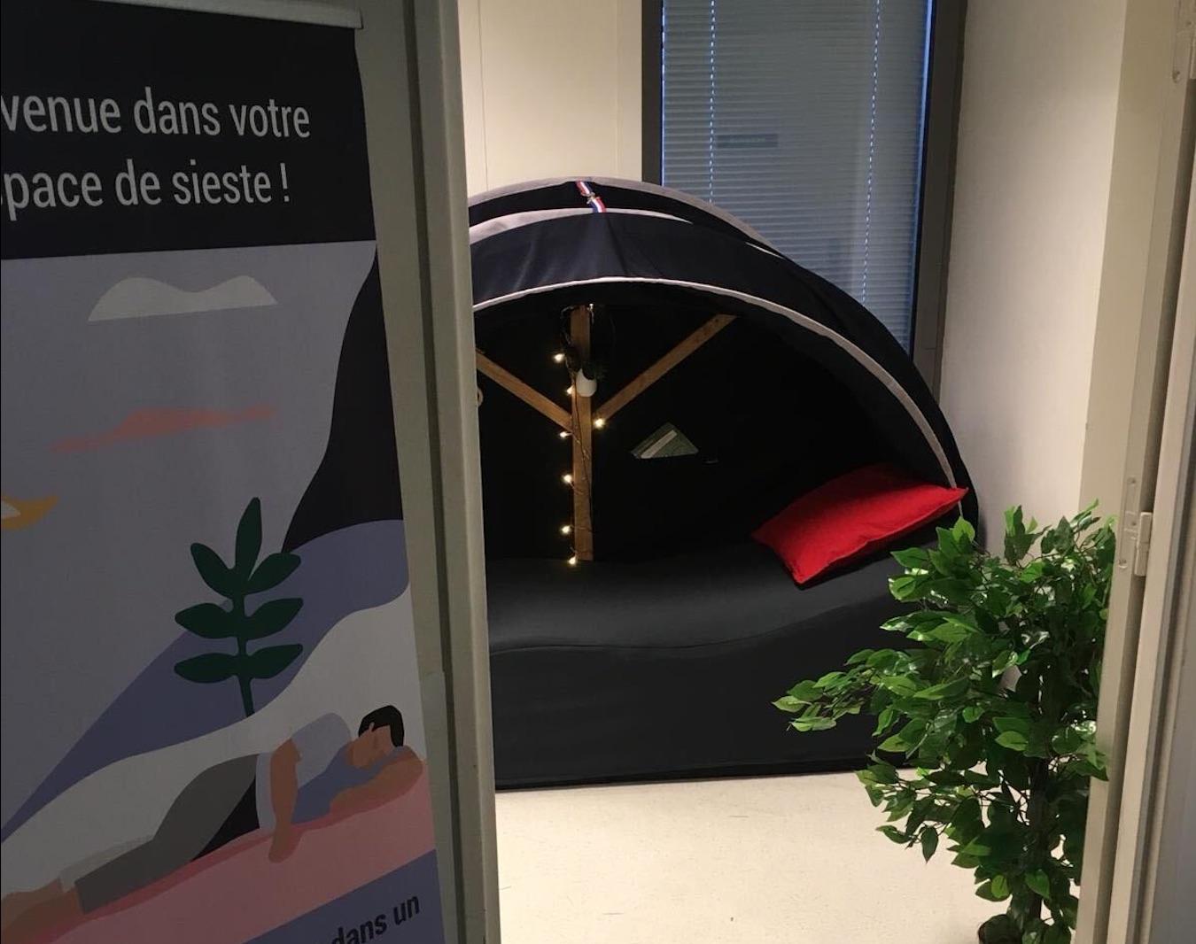 Espace de sieste à l'hôpital de Créteil