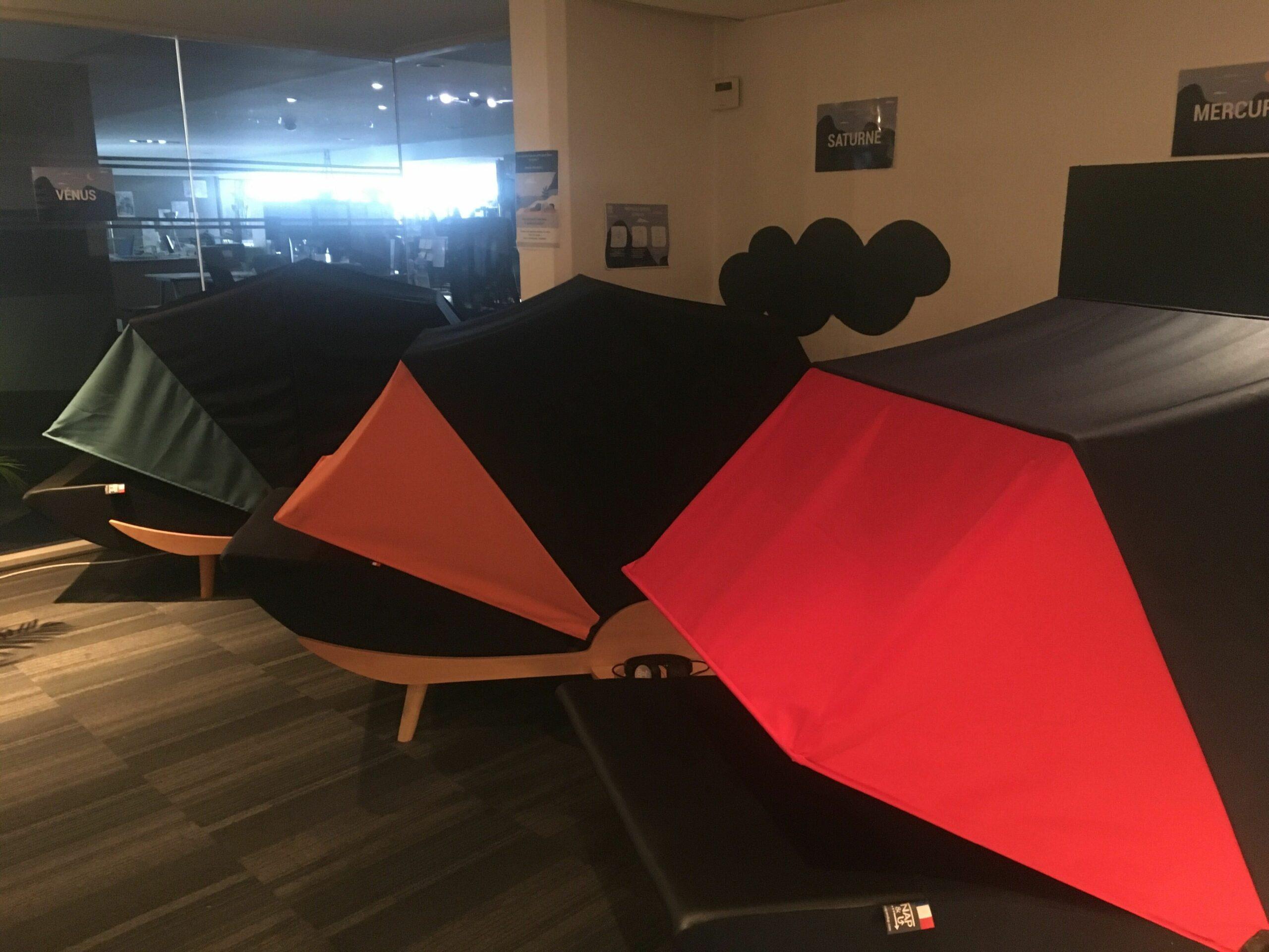 L'espace de repos au Square Renault par Nap&Up